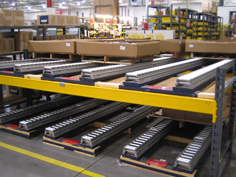 Gravity Pallet Roller Conveyors