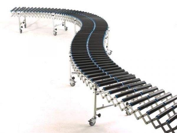 50mm PVC roller type flexible roller conveyor