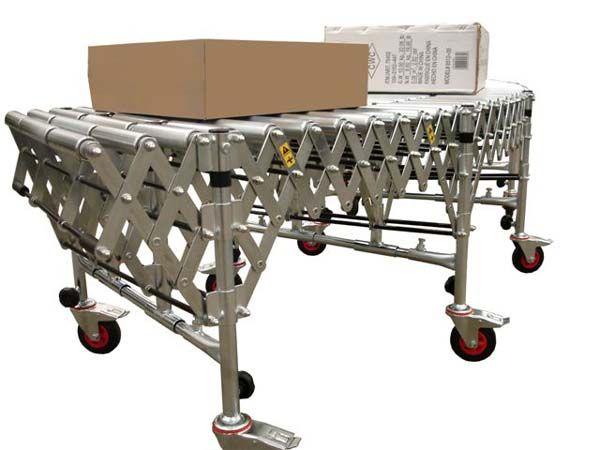 Flexible Expanding Steel Roller Conveyors