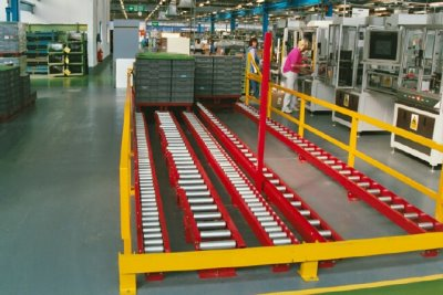 Powered pallet conveyor systems for heavy & light pallets