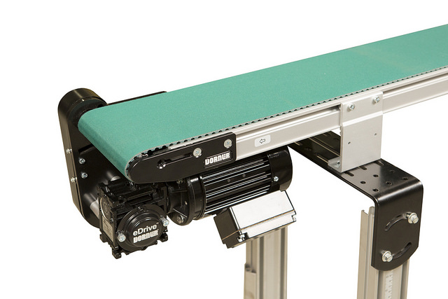 Precision move belt conveyor for accurate control of products.