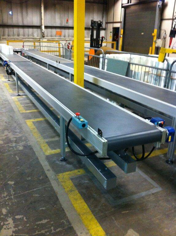 Heavy duty long conveyor belt.