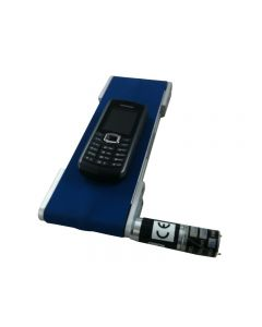 Small conveyor carrying mobile phone