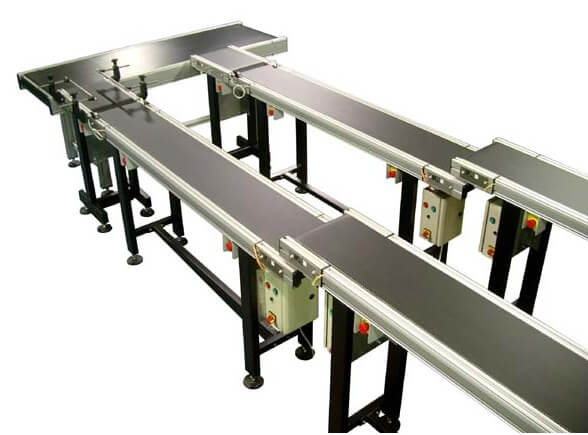 Low profile conveyor system.