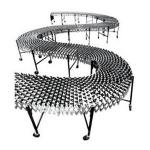 Flexible, Expanding Gravity Conveyors.