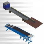 Telescopic Dock leveller Gravity Unloading Conveyor.